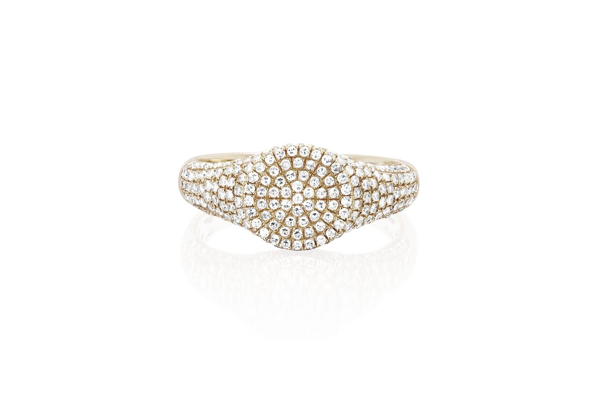 EF Collection Diamond Signet Ring