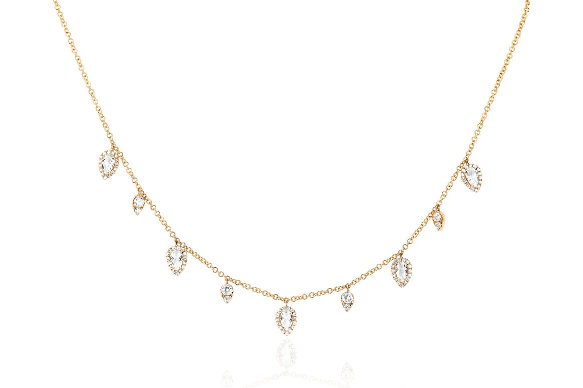 EF Collection Diamond & White Topaz Ultimate Teardrop Necklace