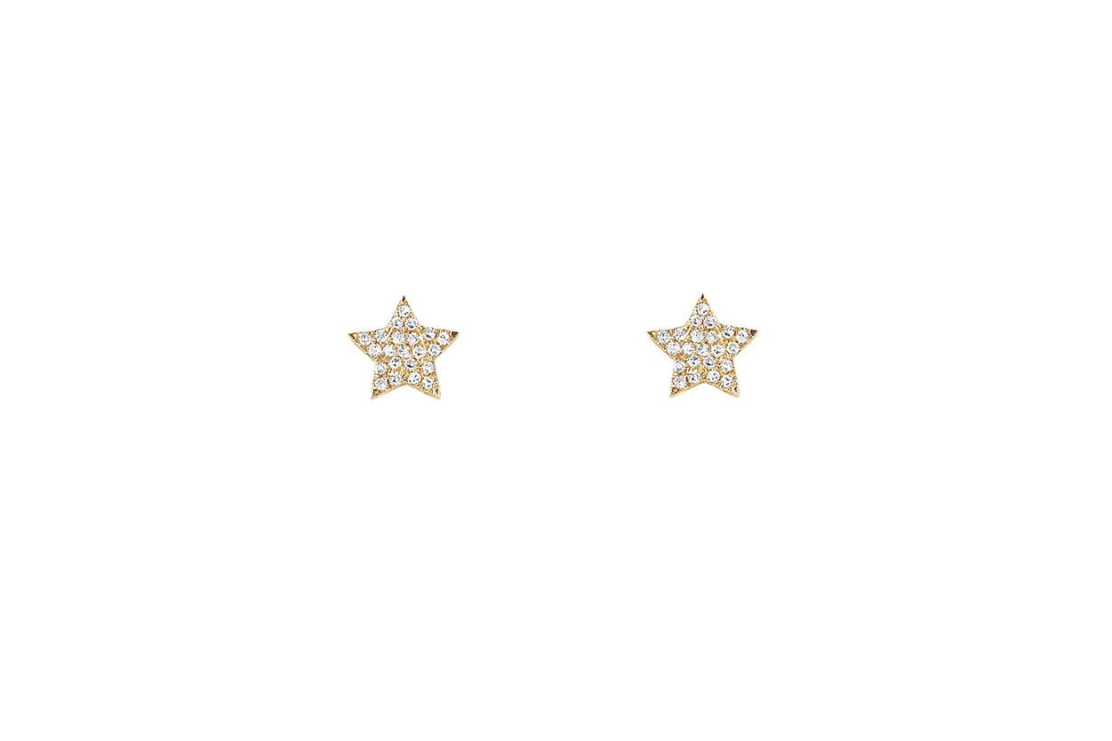 EF Collection Diamond Star Stud Earring
