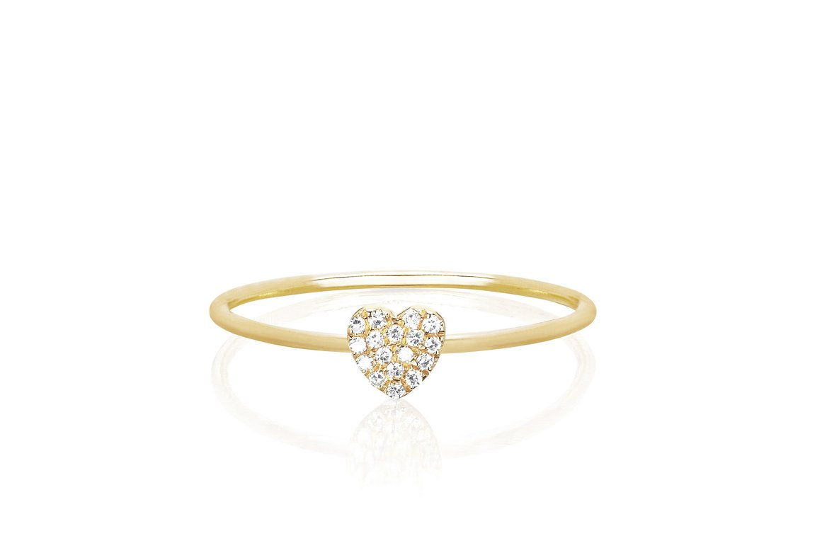EF Collection Mini Heart Stack Ring