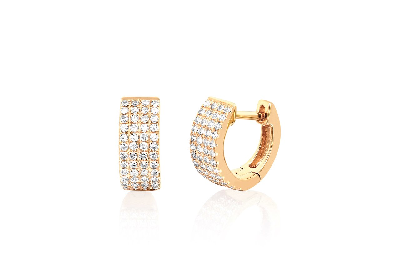 EF Collection Diamond Jumbo Huggie Earring