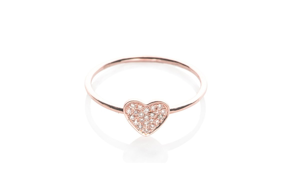 EF Collection Diamond Heart Ring