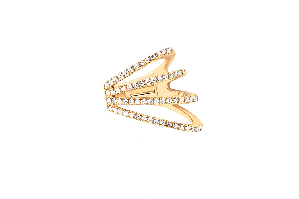 EF Collection Diamond Cage Ear Cuff (No Piercing)