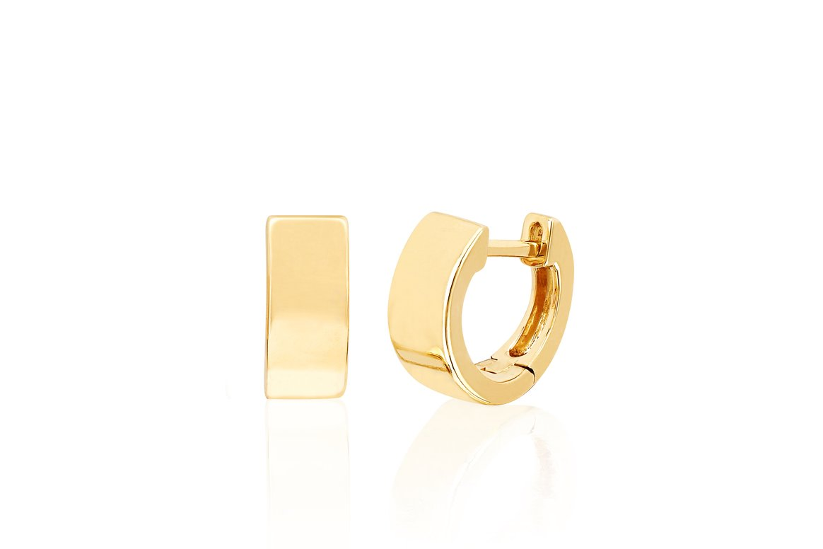 EF Collection Gold Jumbo Huggie Earring